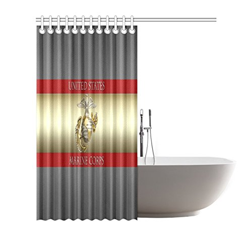 Outlet New Year Gifts Thanksgiving Day USMC United States Marine Corps Waterproof Bathroom Decor Fabric