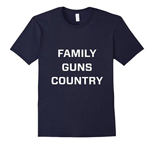 Mens Family guns country t shirt Large Navy