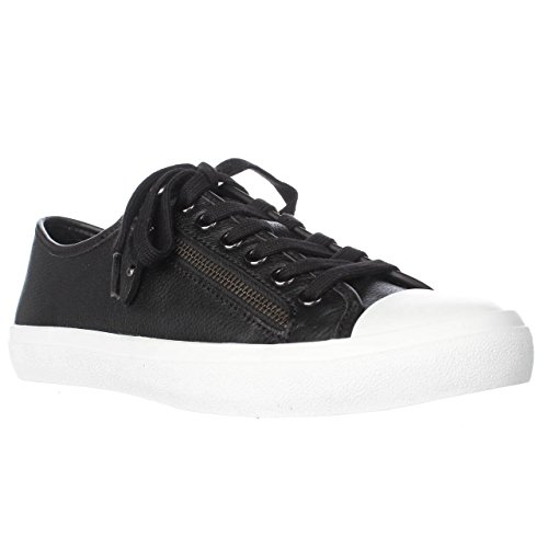 Coach Women's Empire Black Black Zipper Pebble Leather Sneakers 8.5 B US Women