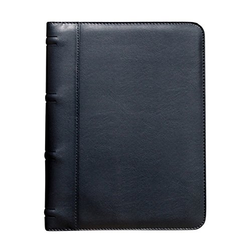 0.5' Portfolio - Padfolio, BuyAgain G-9 Soft Leatherette Black Business Resume document Organizer Padfolio Portfolio Holder With Multiple Pockets & ID card window.
