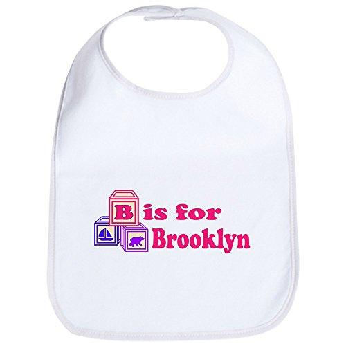 CafePress - Baby Name Blocks - Brooklyn Bib - Cute Cloth Baby Bib, Toddler Bib