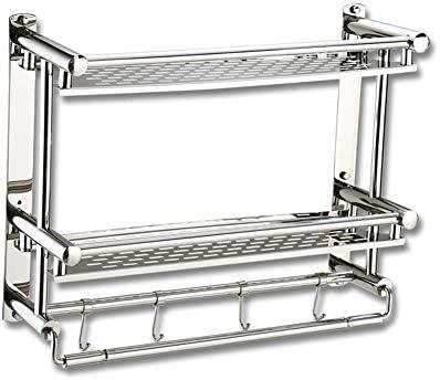 Stainless Steel Bathroom Bath Corner Storage Shower Rack Shelf Holder Organizer