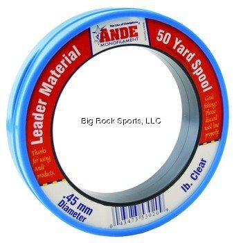 Ande PCW50-40 Mono Leader Wrist, 50-Yard Spool, 40-Pound by ANDE