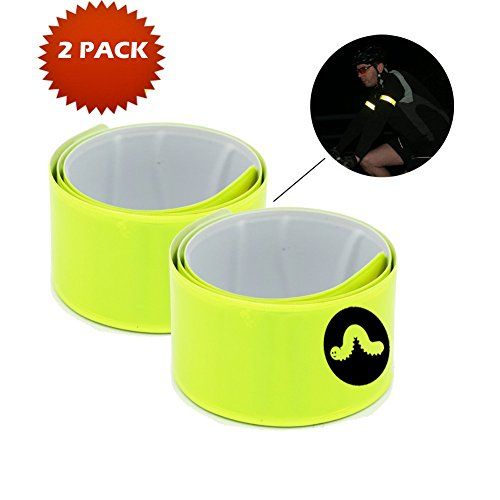 Slap Bracelets, Reflective Glow Bracelet, 2 PACK - NO BATTERIES NEEDED. LONG LASTING. Be Seen At Night, Ankle, Wristbands, Not Glow Sticks, Wrist Wraps, Wrap, Glow In The Dark, Slap Wristband *(2 Pack)* For Kids or Adults