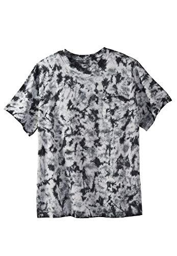 KingSize Men's Big & Tall Shrink-Less Lightweight Pocket Crewneck T-Shirt, - Steel Crewneck