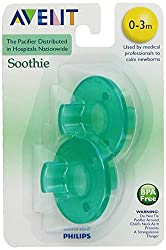 Distributed by hospitals nationwide, the Philips Avent Soothie helps calm and soothe newborns. It has a unique shape that comfortably fits newborn mouths without inhibiting normal development.
