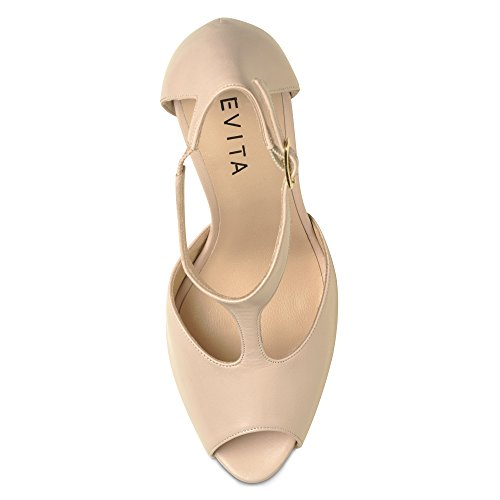 Evita Shoes BEPPINA Damen Sandalette Glattleder Altrosa