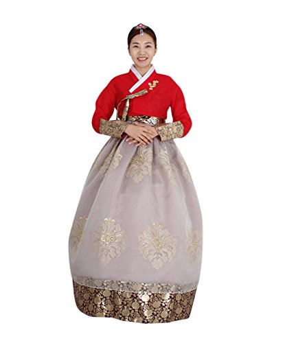 Hanbok Korea Traditional Costumes Women Junior Weddings Birthday Speical Ceremony co110 (skirt length 145cm (160-165cm)) by Hanbok store