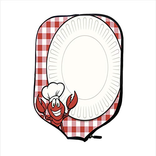 Neoprene Pickleball Paddle Racket Cover Case/Crawfish Supper Invitation/Fit for Most Rackets - Protect Your Paddle