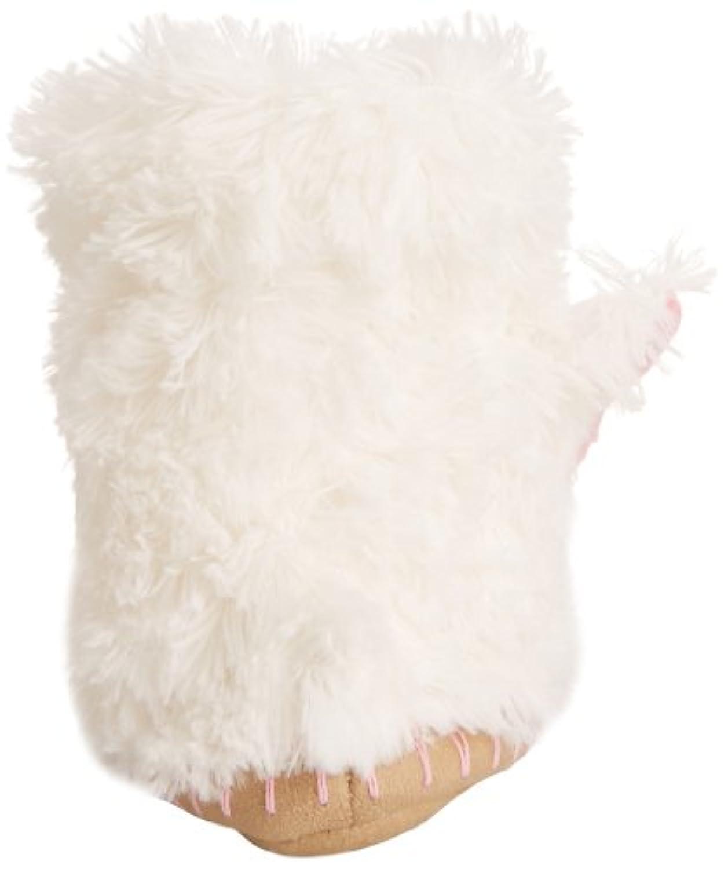 Hatley Slouch - Bunny, Girls' Hi-Top Slippers, White (White), M Child UK (27/28 EU)