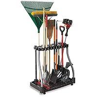 Rubbermaid Deluxe Tool Tower, almacenamiento en el garaje, tiene capacidad para 40 herramientas, negro (FG5E2800MICHR)