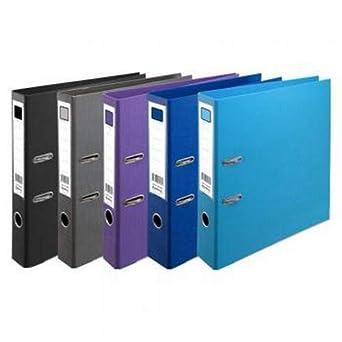 Comix A193 - Archivador de anillas (polipropileno, mecanismo 2-D, capacidad de 16 mm, tamaño A4, 4 unidades), color azul: Amazon.es: Amazon.es