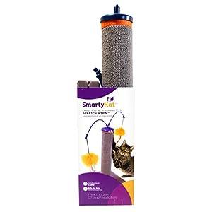 SmartyKat Scratch 'N Spin Carpet Scratching Post Cat Scratcher