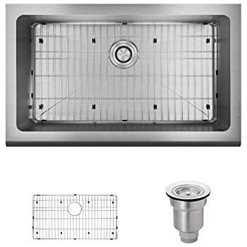 R1 3001 16 Single Bowl Stainless Steel Apron Kitchen Sink