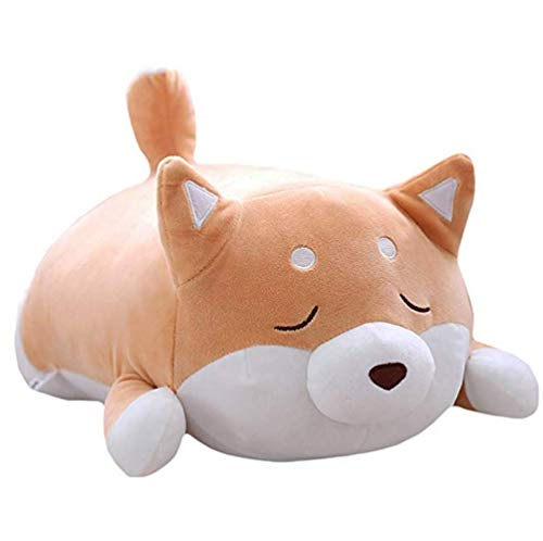 (Waty Dog Plush Pillow, Cute Corgi Dog Plush Doll Stuffed 3D Pet Throw Pillow Doll Gifts Valentine's and Birthday Gift, Sofa Bedroom Decoration Toy Pillow (Yellow))