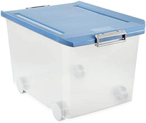 Tatay - Caja Multiusos con Ruedas, 60 L, Azul Paloma, 40 x 56.5 x ...
