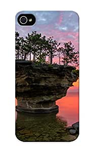 High-quality Durable Protection Case For Iphone 5/5s(michigan Lake Huron Sunset Rock Trees Landscape) For New Year's Day's Gift