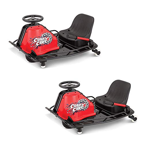 Razor Crazy Cart Electric 360 Spinning Drifting Kids Ride On Go Cart (2 Pack)