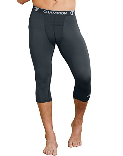 Champion Men's Powerflex 3/4 Tight, Stealth, Large