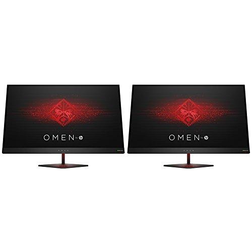 Hewlett Packard Omen 27 Inch QHD 2560 x 1440 165Hz 1ms NVIDIA G-SYNC (Z4D33AA#ABA) Dual Gaming Monitor Bundle