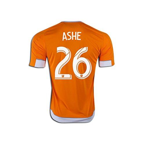 精緻化失礼な誠意Adidas ASHE #26 Houston Dynamo Home Jersey 2016 (Authentic name & number) /サッカーユニフォーム ヒューストン?ダイナモ ホーム用 アッシュ