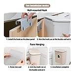 Asvert-Cubos-de-Basura-Cocina-con-Tapa-para-Evitar-Malos-OloresBote-de-Basura-9L-para-Cocina-DormitorioCochebanoetcBlanco