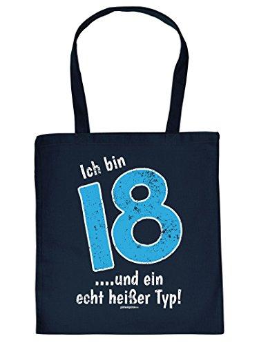 Ich bin 18 .... und ein echt heißer Typ :Tote Bag Henkeltasche. Beutel mit Aufdruck. Tragetasche, Must-have, Stofftasche