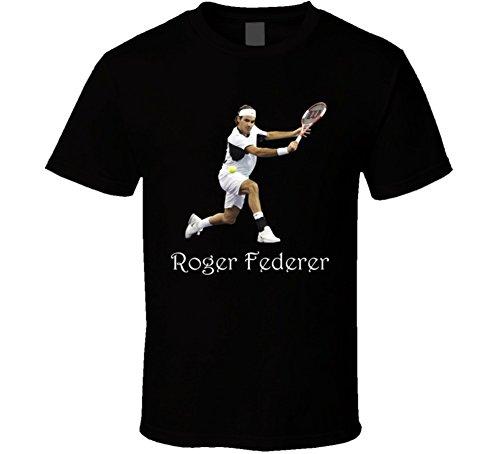 Perfect Fit T Shirts Roger Federer T Shirt M Black