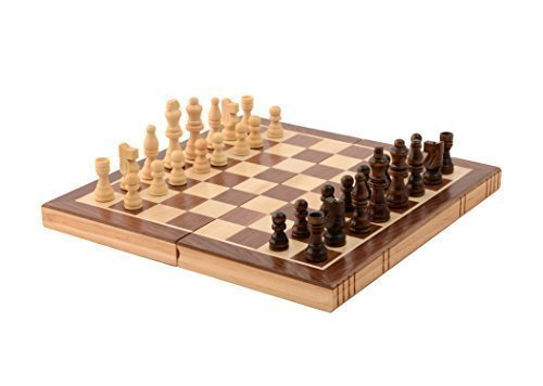 Folding Chess (Kangaroo's Folding Wooden Chess Set with Magnet Closure)