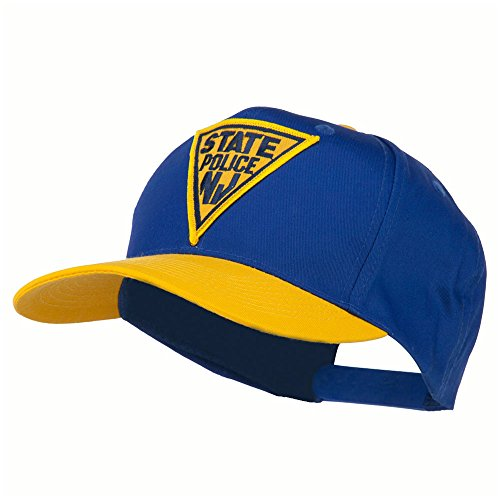 - New Jersey State Police Patched Cap - Gold Royal OSFM