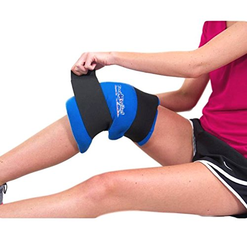 Cool Relief Soft Gel Knee Ice Wrap, Cold Therapy Compression Ice Pack, Universal Size by Cool Relief
