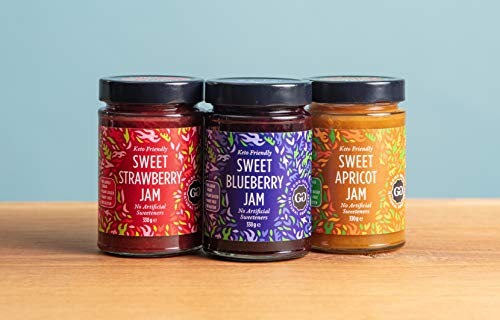 Sweet Jam with Stevia by Good Good - 12 oz / 330 g - No Added Sugar Apricot Jam - Vegan - Gluten Free - Diabetic (Apricot) but is: Good Good Jam with Stevia - Apricot 330g