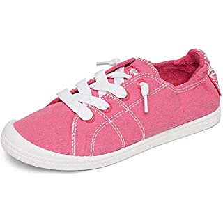 Roxy Women's Bayshore Slip on Shoe Sneaker, HOT Pink 202, 6.5 M US