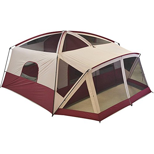 Ozark Trail 12-Person Cabin Tent with Screen Porch, Red
