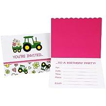 John Deere Pink Invitations (8)
