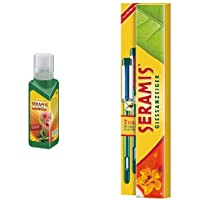 Seramis Flüssiger Pflanzendünger mit Dosierhilfe für alle Kakteen und Sukkulenten, Vitalnahrung, 200 ml, Grün