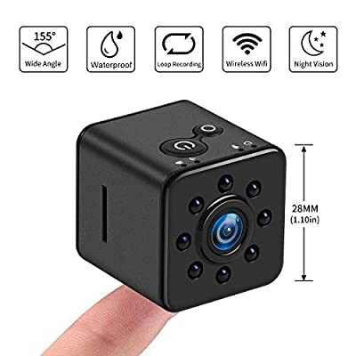 Crazepony Mini Camera SQ13 1080P HD Spy Camcorder Night Vision CMOS Camera 155 Degree Waterproof Hidden Camera Support Mobile WiFi Hotspot for FPV Drone from Crazepony
