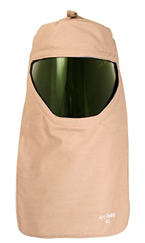 National Safety Apparel H65HKHKHHEC ArcGuard Economy Arc Flash Hood with Universal Adapter, 40 Calorie, One Size, Khaki by National Safety Apparel Inc