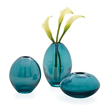 Torre & Tagus 901431 Mini Lustre Vases Assorted, Turquoise, Set of 3