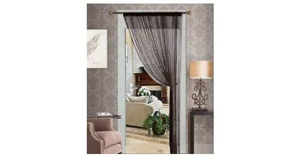 Amazon.com: Cortina de cadena de cortinas de hilo flecos ...