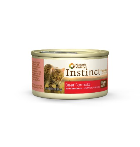Instinct Grain-Free Beef Formula Canned Cat Food by Nature's Variety, 3-Ounce Cans (Pack of 24), My Pet Supplies