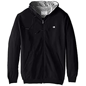 Champion Men's Big-Tall Full Zip Fleece Hoodie, Black, 3X