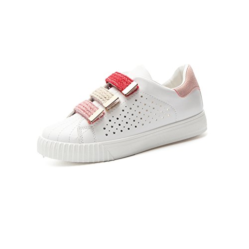 Ladies Velcro Respirables Small Mujer New de Zapatos Segundo Shoes Zapatos de Deck Moda White Planos Academy Shoes qE6Rf