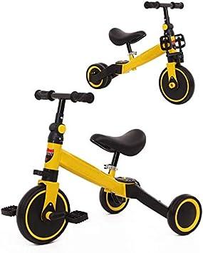 WLD Bicicleta de entrenamiento Cuadro Cochecito Cochecito 2 en 1 Bicicleta para niños Baby Balance Car Un automóvil para dos usos 1-3-6 años Triciclo Asiento blando Regalos de cumpleaños para niños y