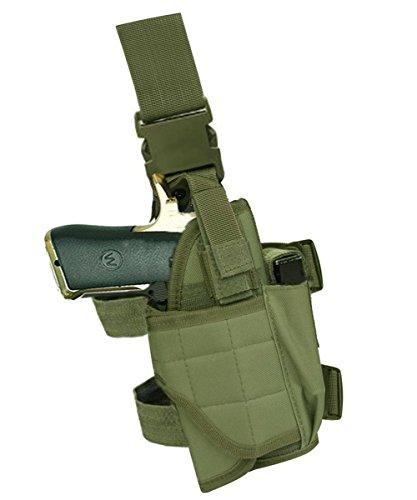 Terrernce Molle Tactical Pistol Thigh Gun Holster, Drop Leg Holster, Right Hand Adjustable