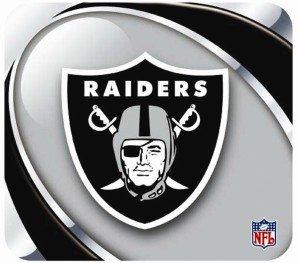 - Oakland Raiders Mouse Pad - Vortex Design
