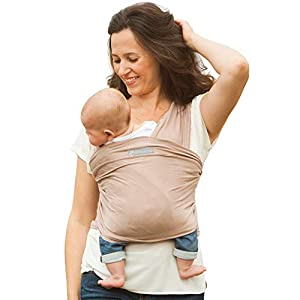 Amawrap Baby Sling Wrap   UK Made, 100% Natural Cotton   9 Colours (Mocha)   Stretchy Wrap Sling from Birth   Newborn…