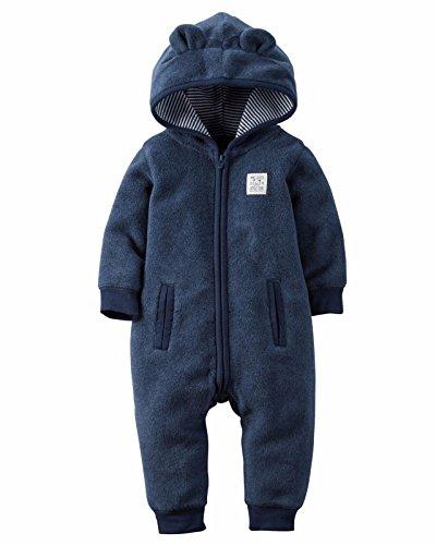 Cub Hooded Jumpsuit Navy Blue 12M (Carters Snap Front Jumpsuit)