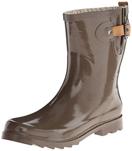 CHOOKA Women's Solid Mid Rain Boot, Taupe, 9 M US