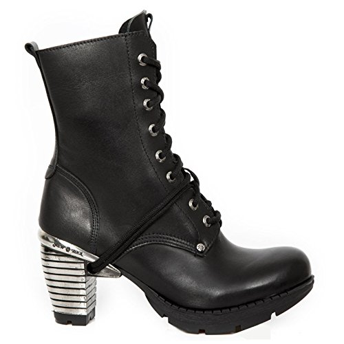 TR001X Boots New S3 M Black Leather Rock Womens xqqFa7tH